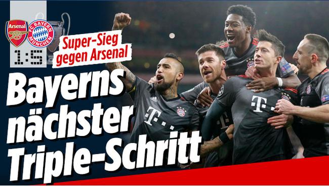 《图片报》:拜仁朝着三冠王又近一步