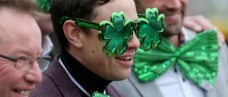 马迷绿色装庆祝圣帕克里特节