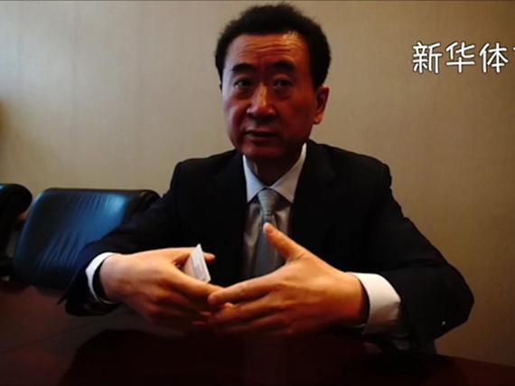 新华社专访王健林