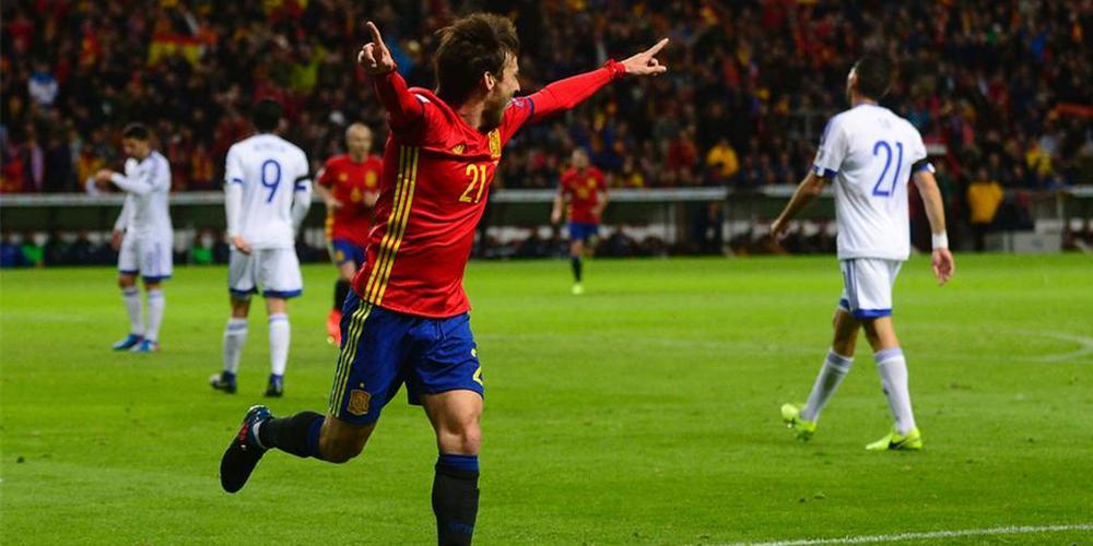 世预赛-西班牙4-1大胜 伊斯科席尔瓦进球