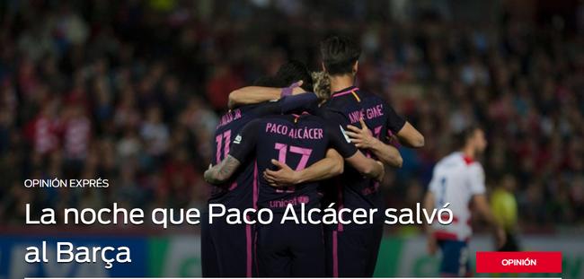 《每日体育报》帕科拯救了巴萨