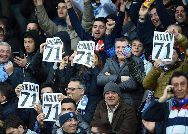 那不勒斯球迷抗议伊瓜因