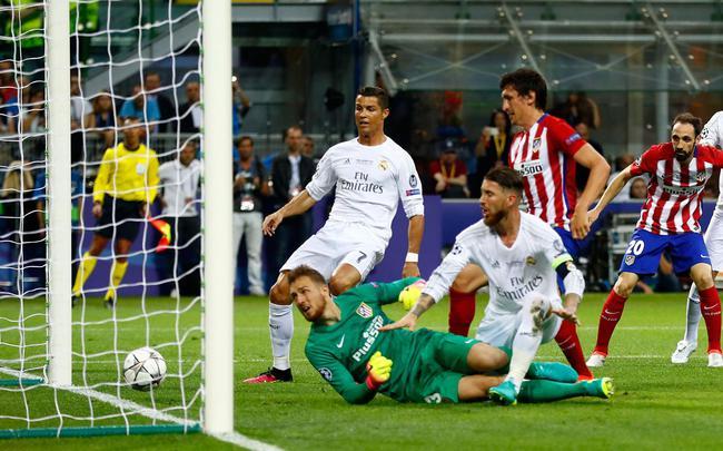 马竞去年在欧冠决赛中,和皇马战到了点球大战
