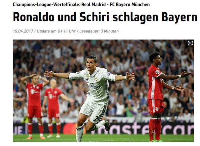 Sport1:C罗和裁判击败拜仁