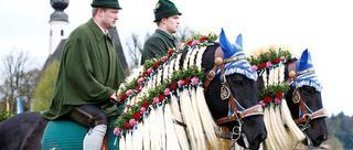 巴伐利亚骑马朝圣祈福