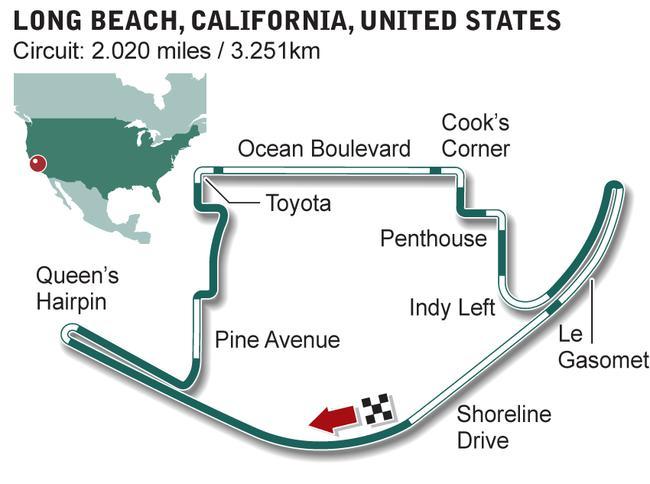 美国长滩赛道平面图