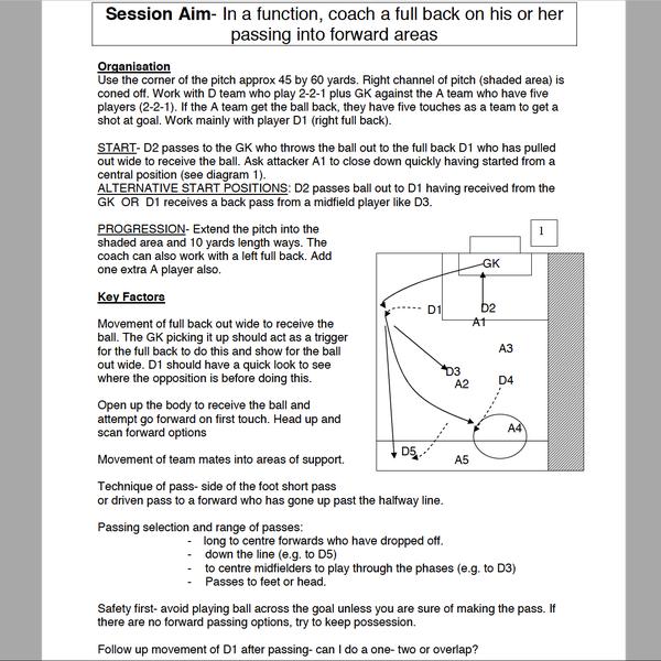 B级教练证的课程:如何训练边卫插上助攻(来源:威尔士足协 谷甘琪)