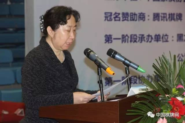 图为中国象棋协会主席陈泽兰