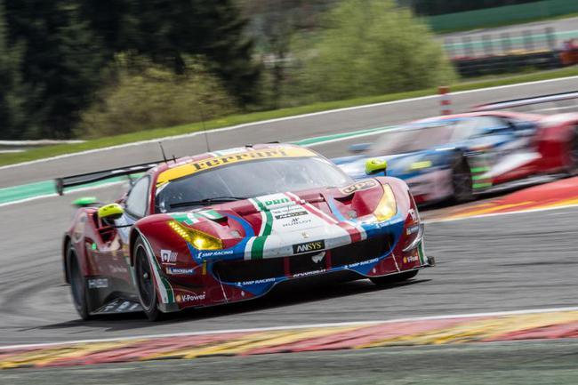 LMGTE-Pro组获胜的AF Corse车队71号赛车