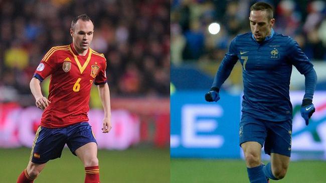 伊涅斯塔和里贝里都获得过欧足联的最佳球员