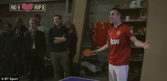 范佩西可是拿过乒乓球冠军的
