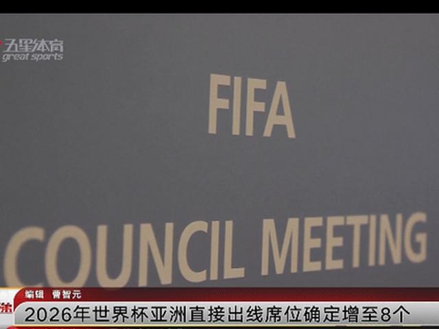 亚洲世界杯名额增至8.5个