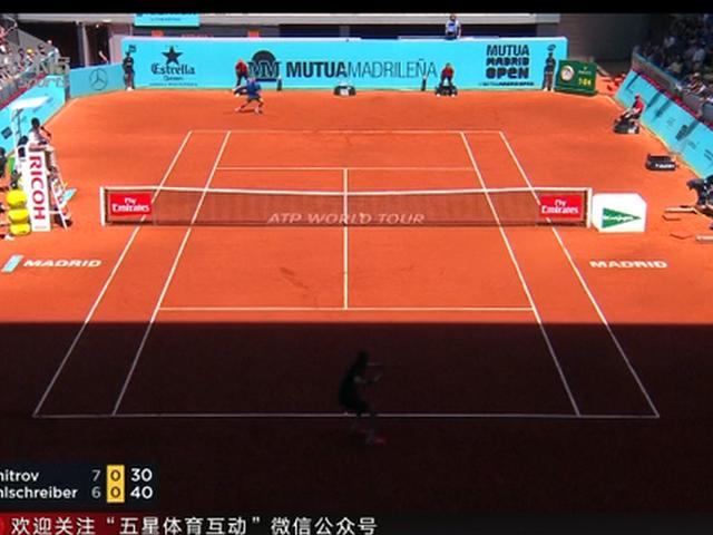 视频-ATP马德里大师赛 迪米特洛夫赢下红土赛季首胜