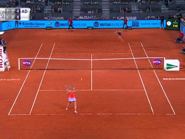 视频-WTA马德里公开赛 布沙尔拦截莎娃晋级之路