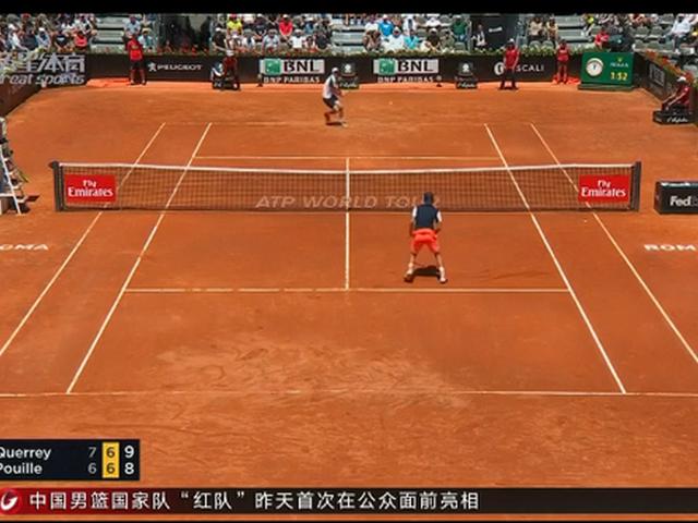 视频-ATP罗马大师赛首轮 阿根廷名将德尔波特罗晋级