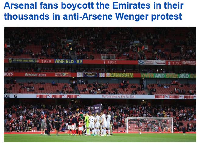 英媒:这是对俱乐部与温格的抵制