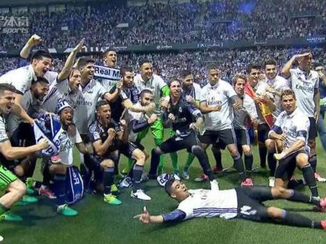 视频-C罗闪击轻取马拉加 皇马时隔5年重夺西甲冠军