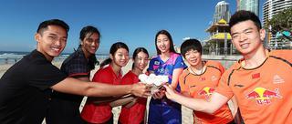 苏杯轮空日国羽选手玩冲浪
