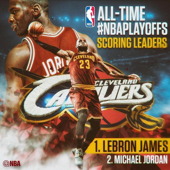 【影片】歷史第一達成!詹皇季後賽生涯總得分超越喬丹-Haters-黑特籃球NBA新聞影音圖片分享社區