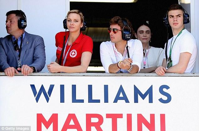 摩纳哥Charlene公主成为威廉姆斯车队嘉宾