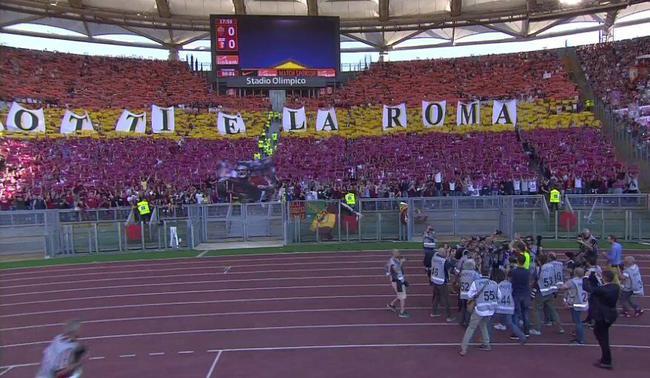 看台标语:托蒂即是罗马