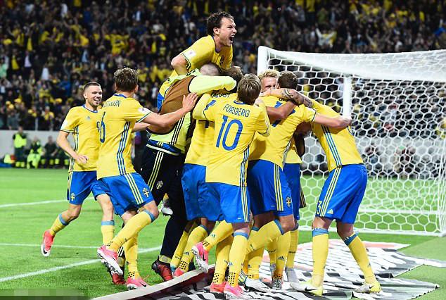 瑞典庆祝绝杀