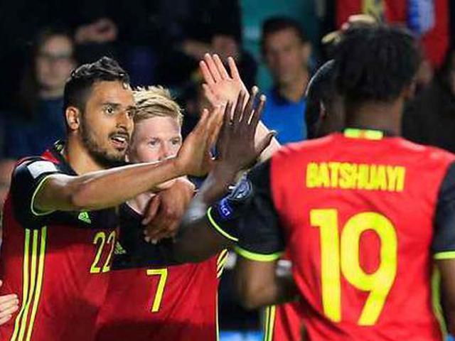 视频集锦-梅尔滕斯查德利破门 比利时2-0完胜爱沙尼亚