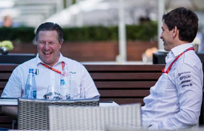 迈凯轮CEO扎克-布朗 与 梅赛德斯领队托托-沃尔夫