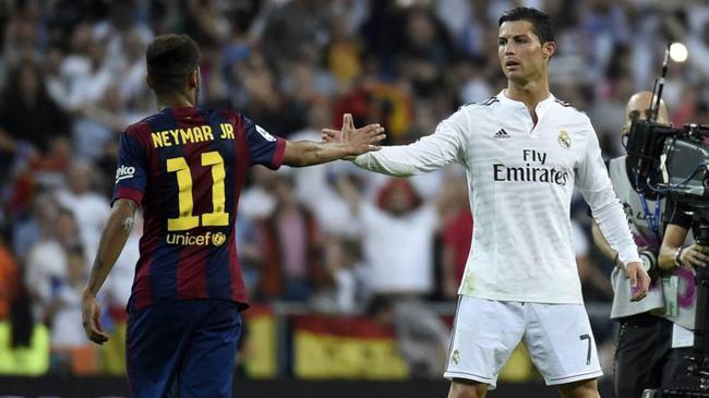 球员价值榜:内马尔2亿多排第1 梅西第4 C罗第11