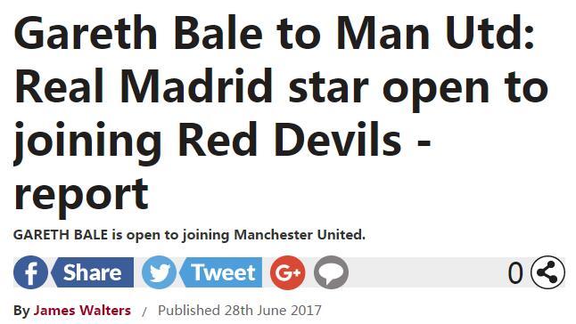 英报:贝尔对去曼联持开放心态