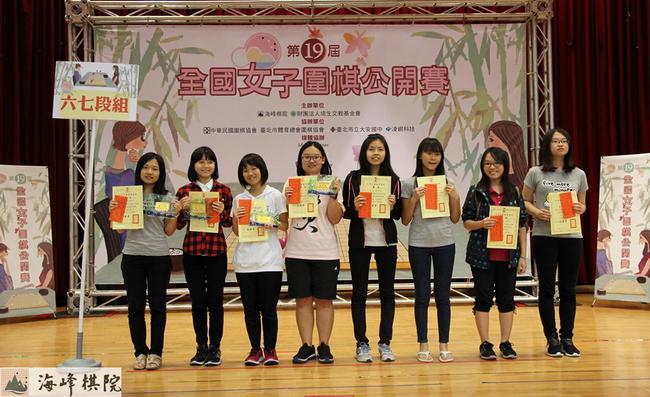 第19届全国女子围棋公开赛 6-7段组前八名优胜者