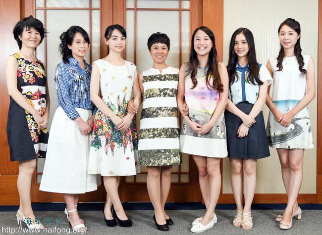 台湾职业女棋士参加'第二届女子围棋最强战'合影