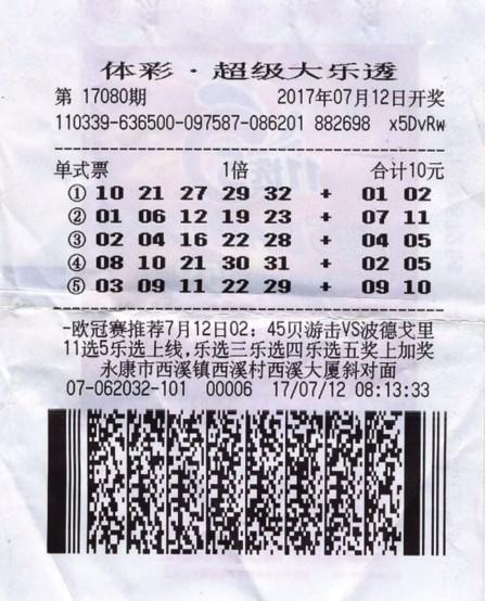 女子花10元让彩站主选号中体彩989万:先还债