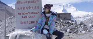 陈赫前妻蕾拉小姐登珠峰大本营