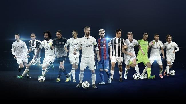 欧足联公布候选名单