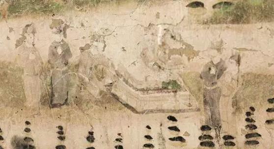 壁画中的对弈图    五代 莫高窟第61窟 西壁    悉达多太子对弈图    数字敦煌/图