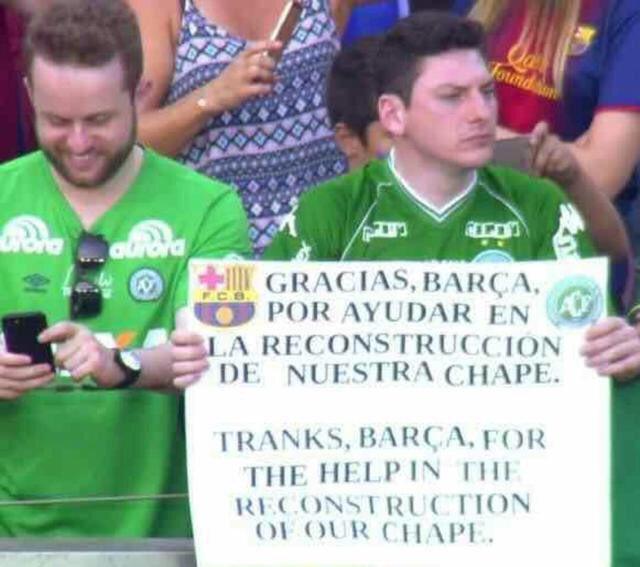 沙佩科人球迷感谢巴萨
