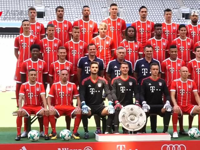 视频-拜仁拍摄全家福 精神抖擞迎接新赛季