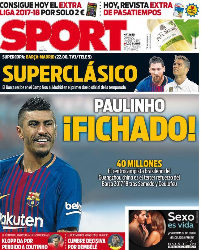 《每日体育报》:巴萨已经敲定保利尼奥