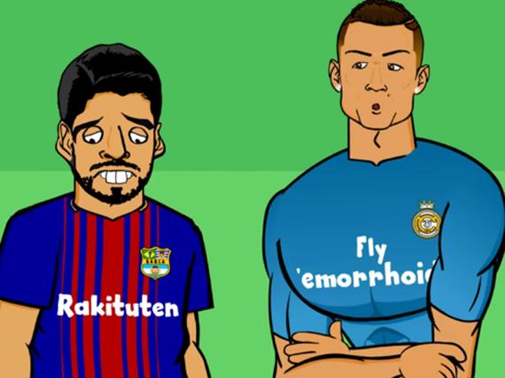 视频-C罗真没跳水!球迷动画恶搞西班牙超级杯