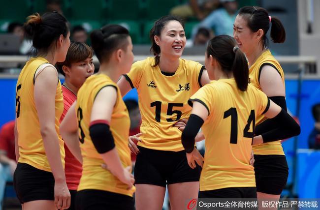 全运女排半决赛上海3