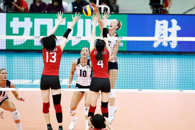 女排大冠军杯美国3