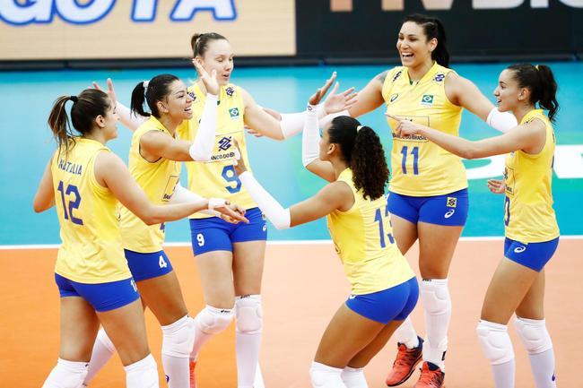 女排大冠军杯巴西3