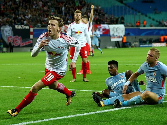 欧冠-莱比锡首秀1-1平摩纳哥