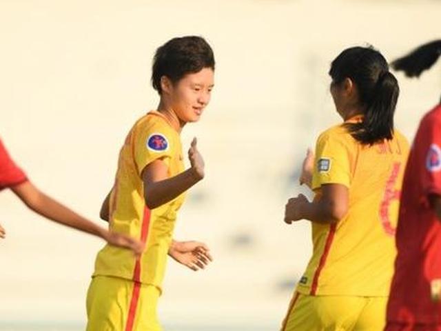 中国U16女足大胜老挝