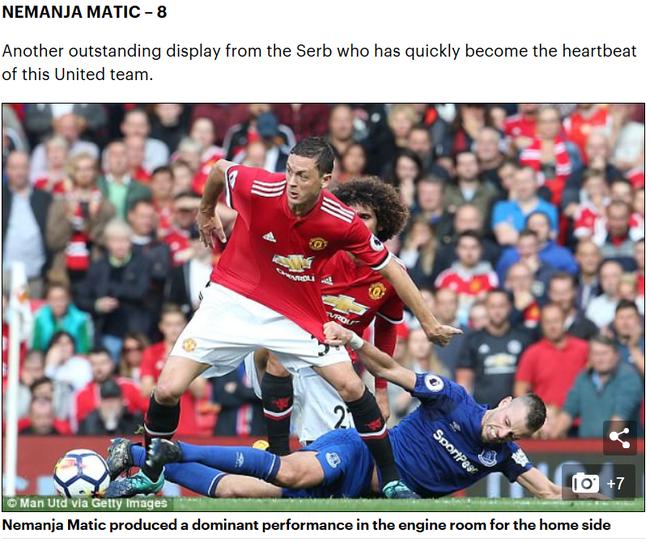 """《邮报》称马蒂奇是""""曼联的心脏"""""""