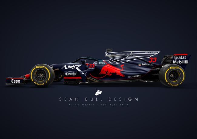 sean bull design设计的阿斯顿马丁-红牛车队概念涂装