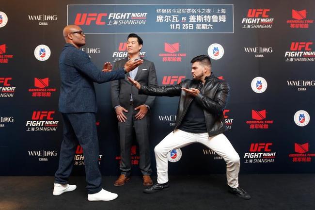 两位头条主赛选手亮相上海 助力UFC中国上海首站