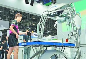水谷隼与最新一代乒乓球机器人过招。