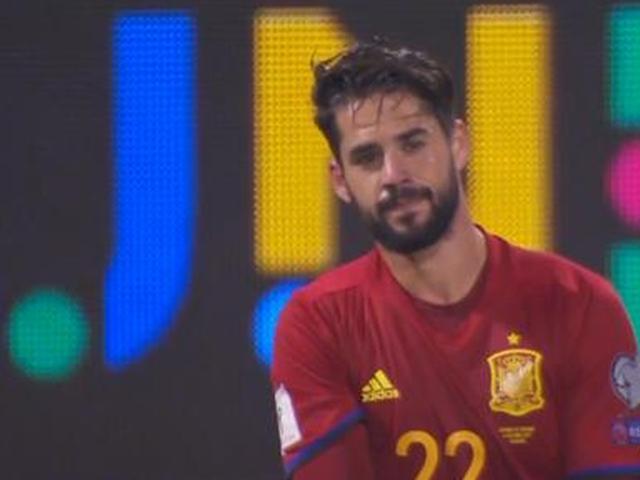 进球视频-10人18脚!西班牙团队配合 伊斯科爆射破门